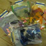 Collage pack of Wool, Silk, Ribbon, Flax, Wire etc