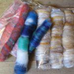 Merino Wool Silk and Glitter