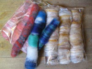 Merino Wool Silk and Glitter