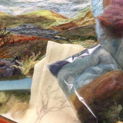 Landscape Needle Felting kits