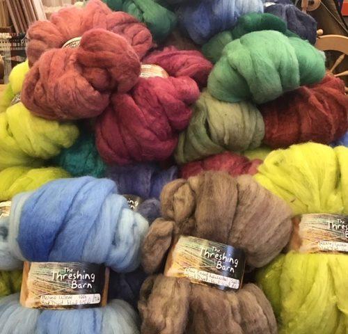 Mono hand dyed Merino wool tops